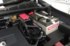 HiLux dual and battery system in the engine bay